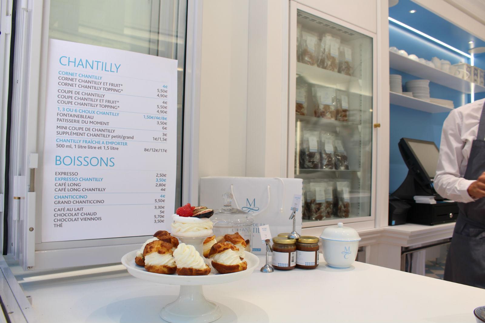 HiP Paris blog. Maison de la Chantilly. Stacks of decadent pastries in the window