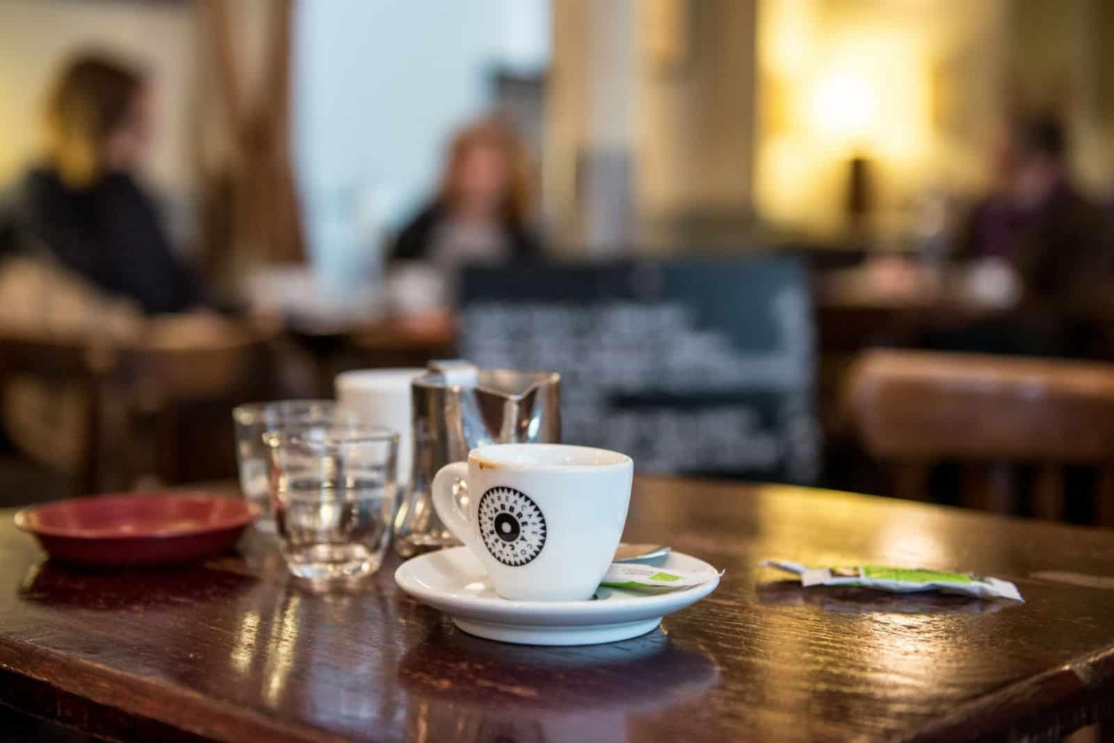 HiP Paris blog. Cafe de la Nouvelle Mairie. At the table