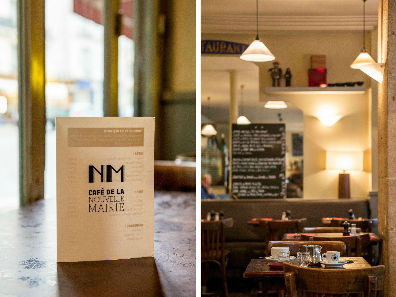 HiP Paris blog. Cafe de la Nouvelle Mairie menu interior montage