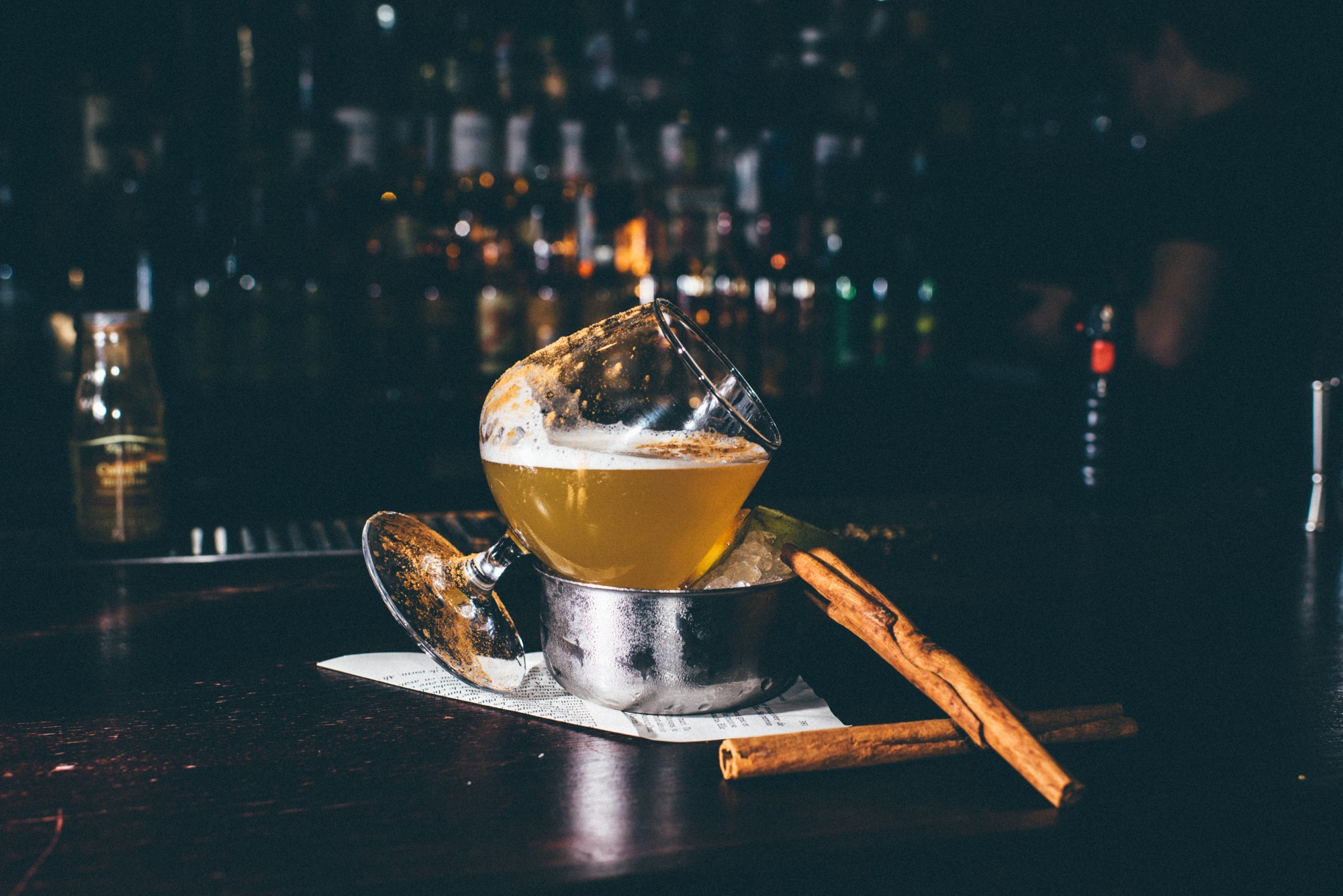 HiP Paris blog. The 3 most outrageous cocktails in Paris. L'Education Sentimental at Shake n' Smash is like fall in a glass. Photo by Jean-Marie Heidinger.