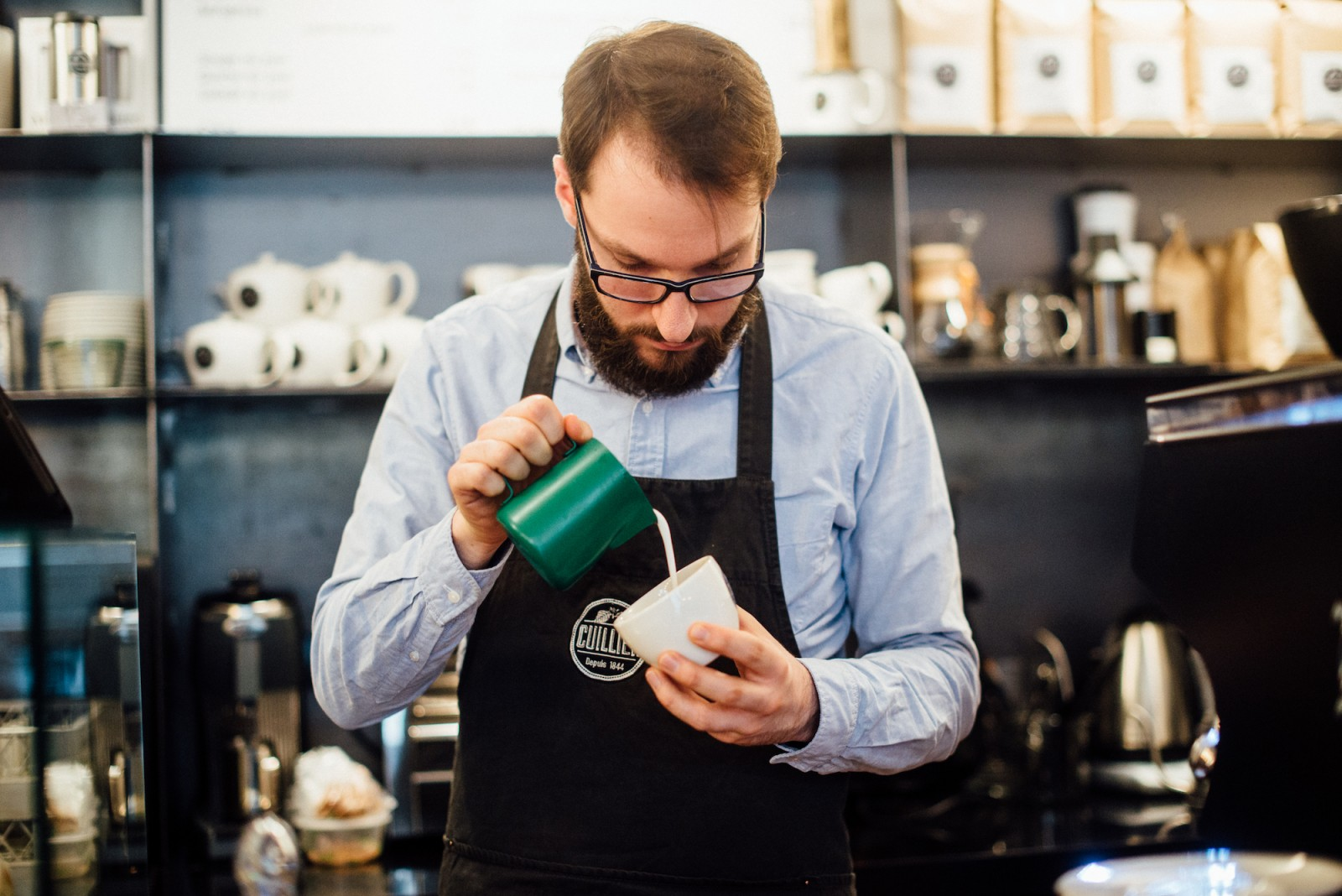 Coffee with a French Twist at Cuillier Cafe in Paris