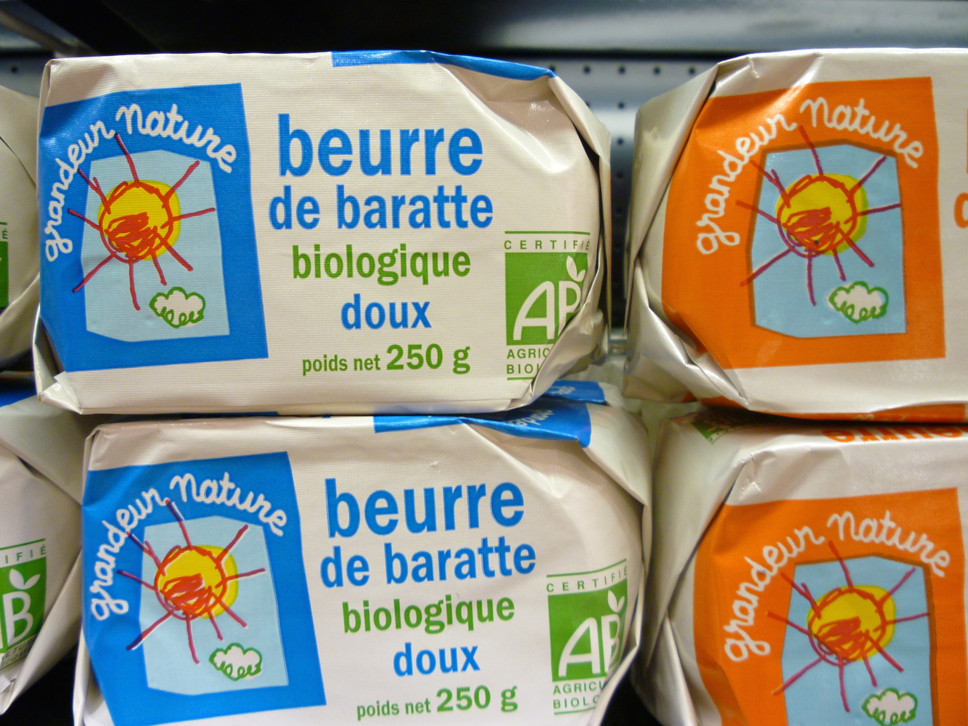 You can also get organic butter in France.
