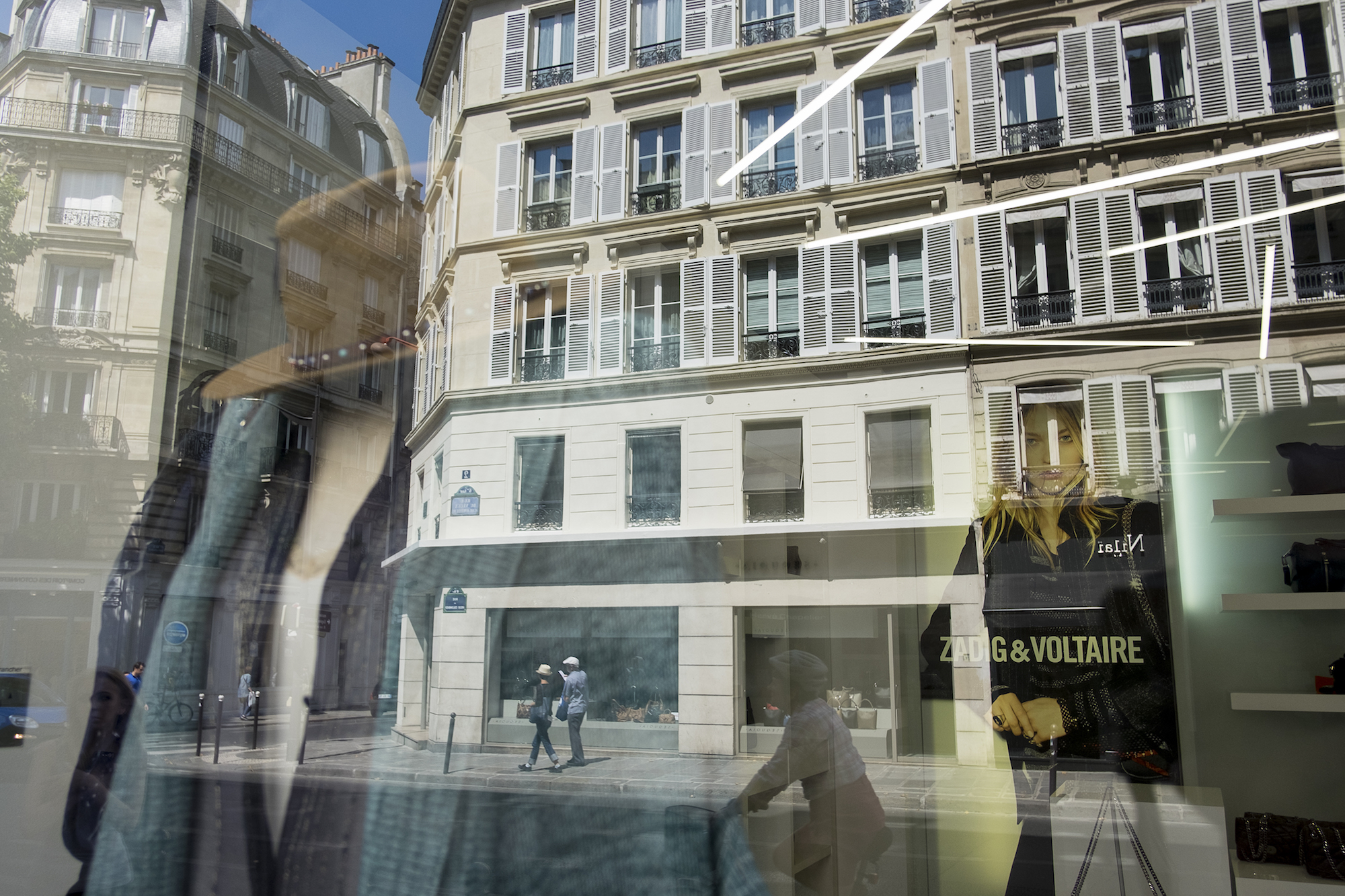 HiP Paris blog. Discovering Saint Sulpice. Reflection out of Zadig & Voltaire.