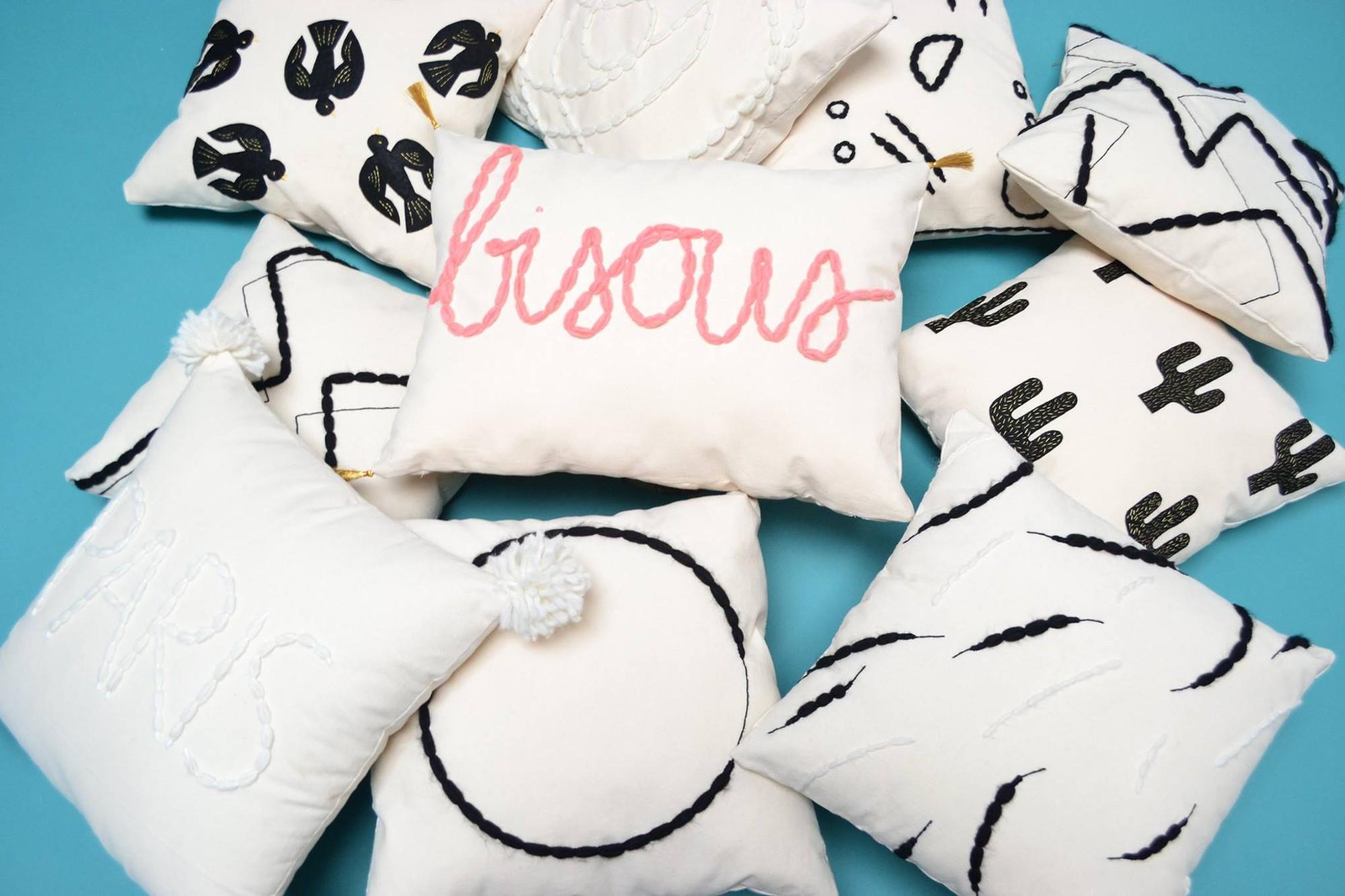 Christmas Gift Shopping in Paris, COTO Design Handmade Cushions