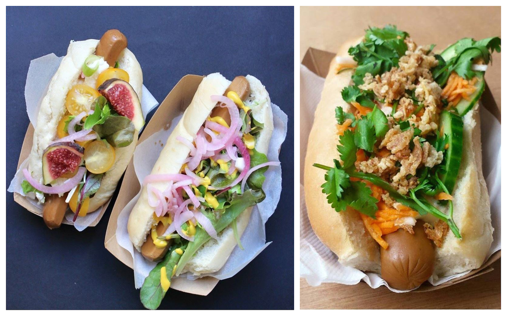 HiP Paris Blog rounds up the top brunch spots in Paris like the Tricycle for the delicious vegan hotdogs with a multitude of toppings from fresh fruit to onions.