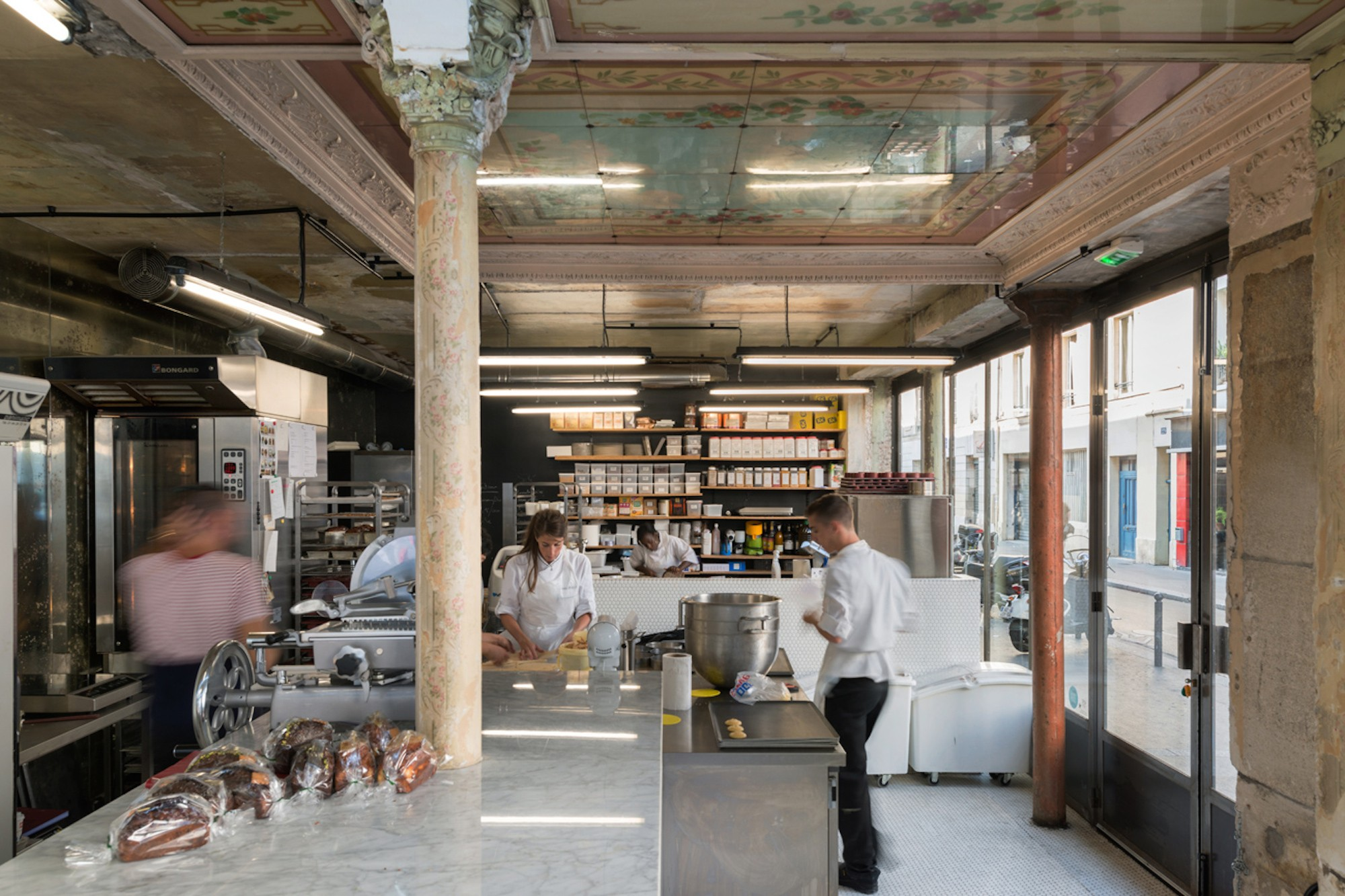 We love to go to Liberté bakery for brunch in Paris, as their bread is amazing and we also love the historic industrial decor.