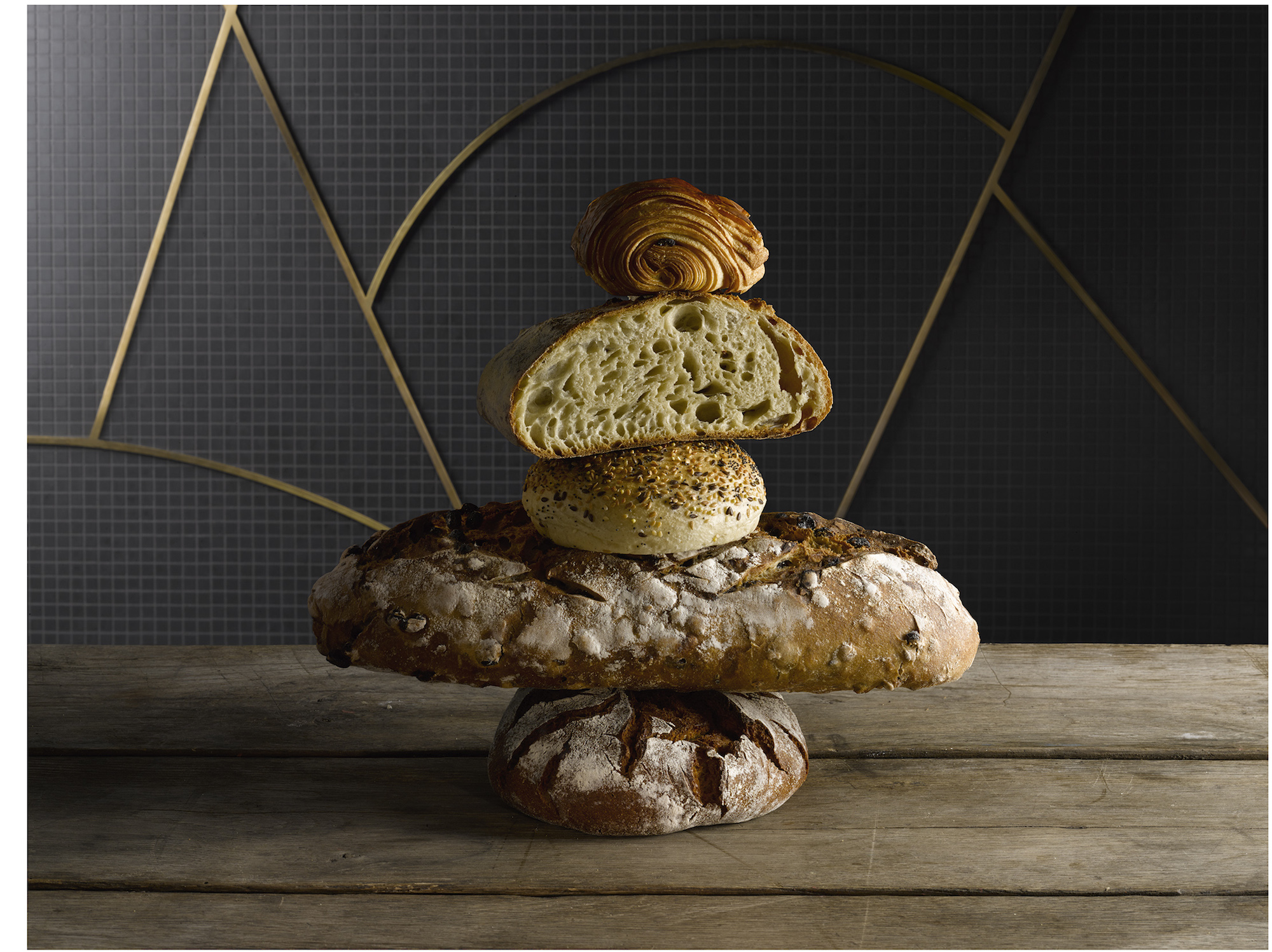 Foodie destination, Printemps du Gout in Paris sells lots of different types of artisanal bread.