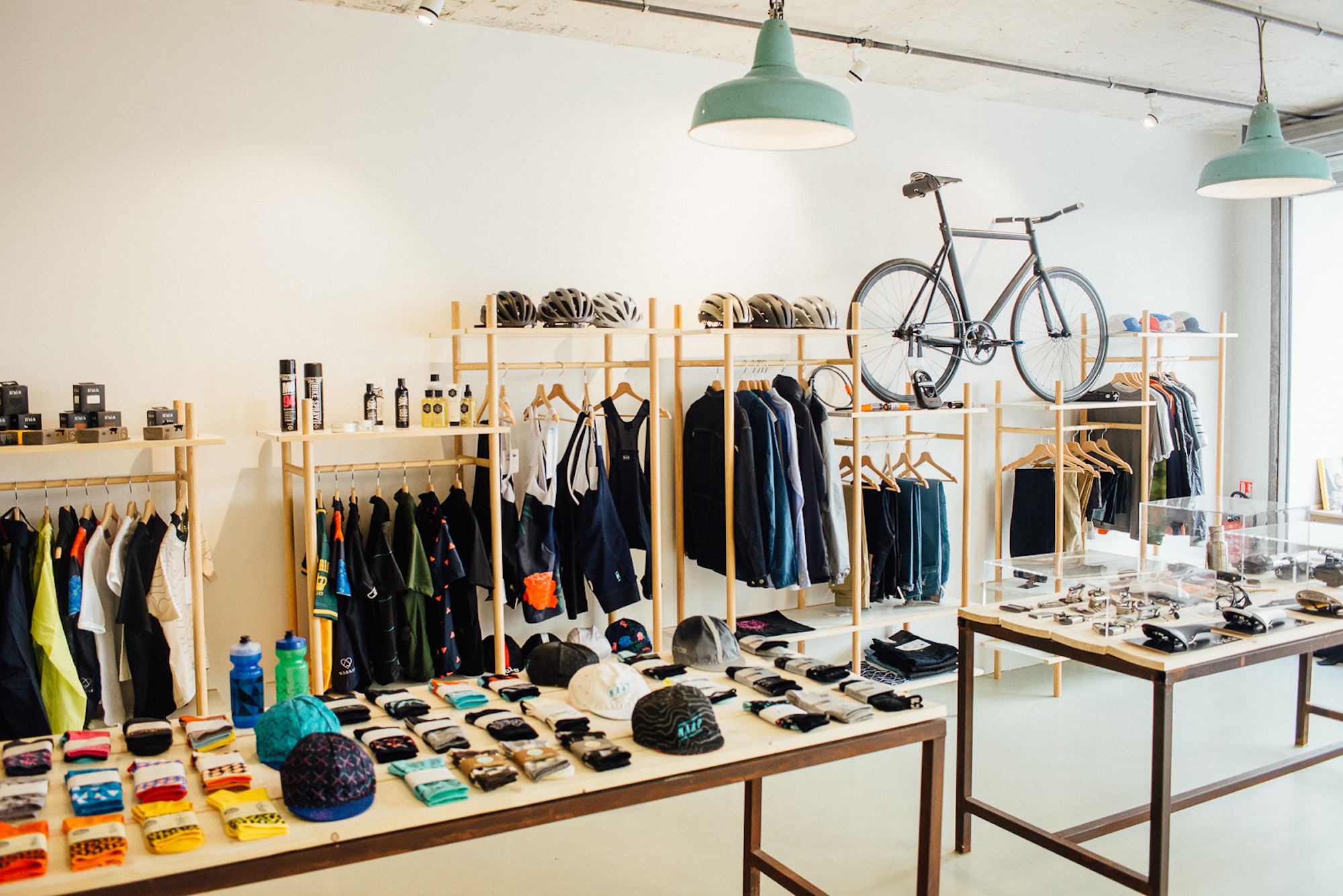 Inside one of Paris' best concept stores, Steel Cyclewear sells everything from bikes to socks and also has a cafe.