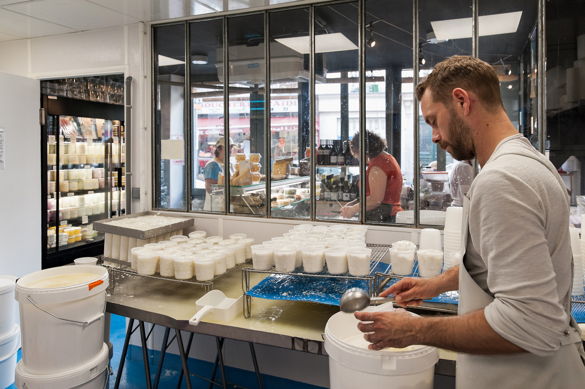 HiP Paris Blog discovers Paris' first cheese dairy La Laiterie de Paris where Pierre Coulon has his workshop and makes cheese.
