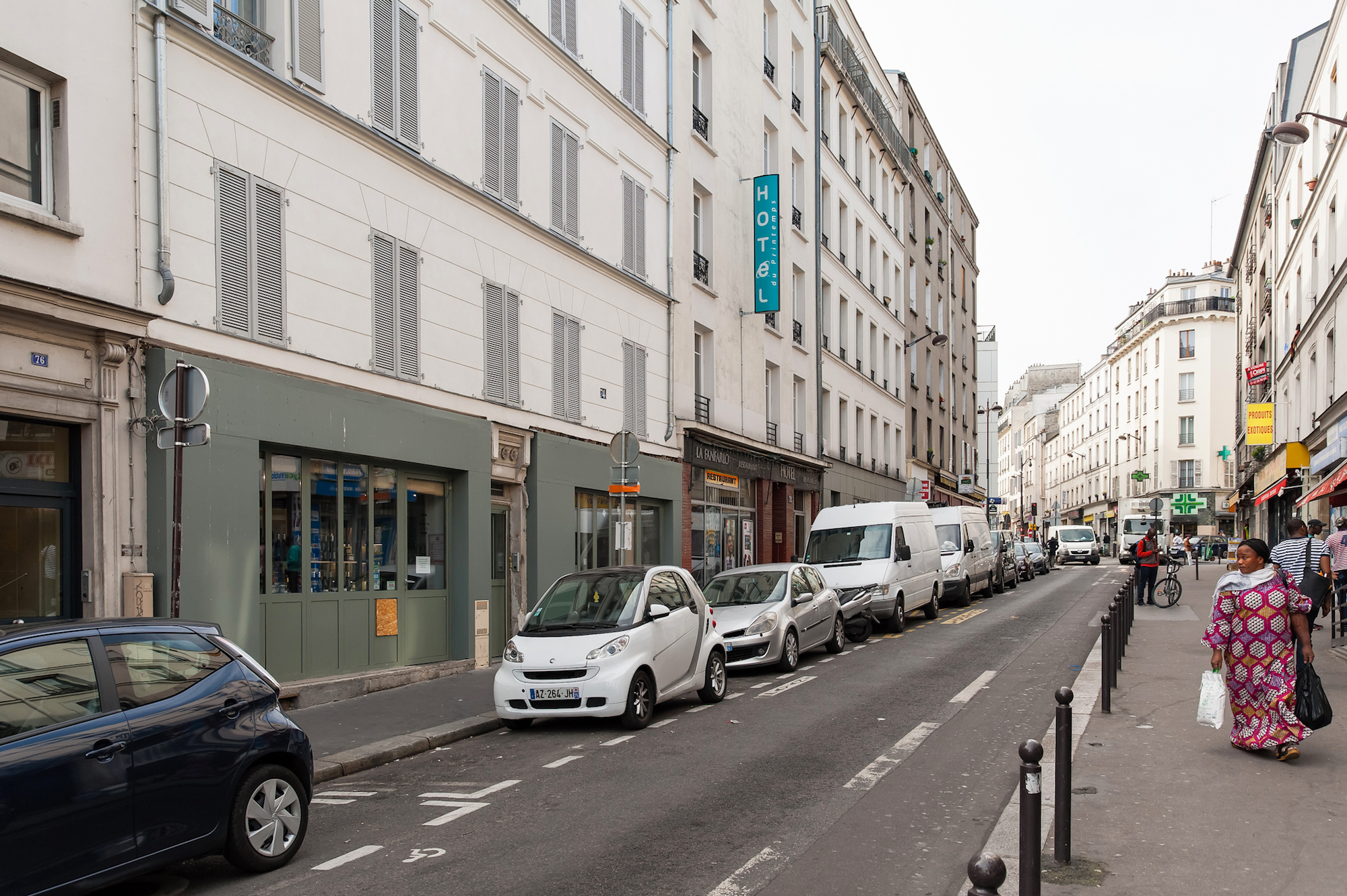 The street where you'll find Paris' first cheese dairy La Laiterie de Paris.