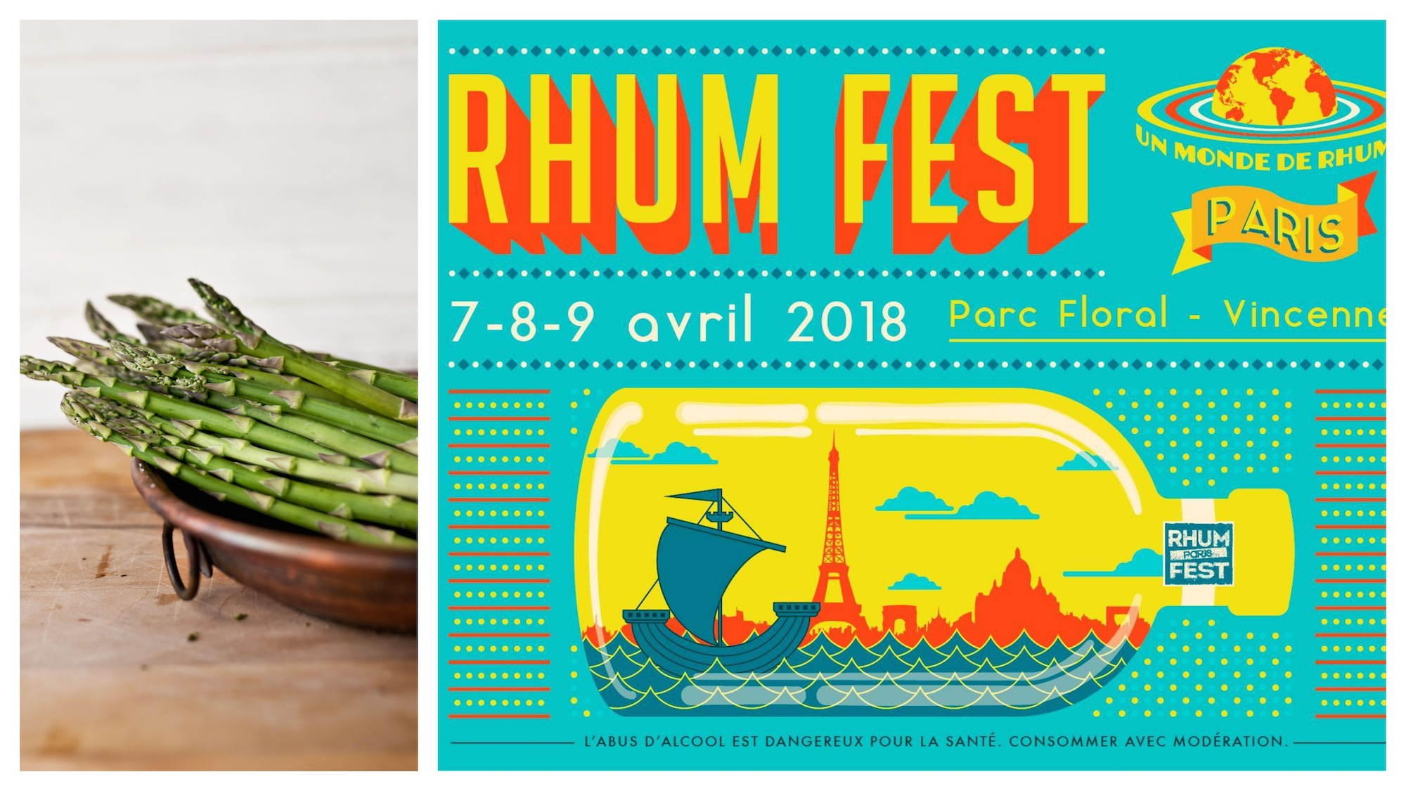 A round-up of events in Paris in April like food festivals and a rhum festival.
