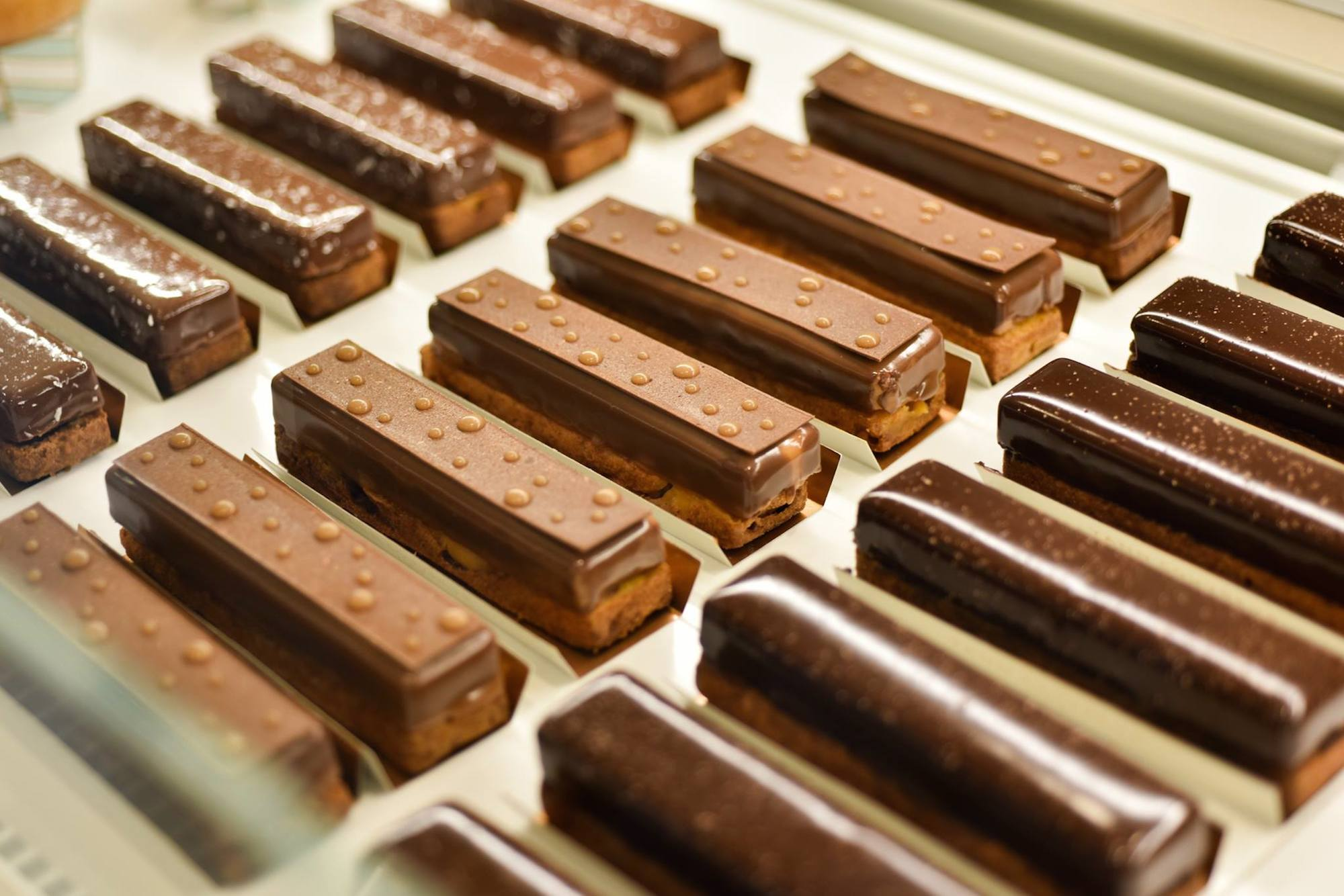 Food festivals in Paris in May include Taste of Paris where you can sample some of these chocolate pastries.