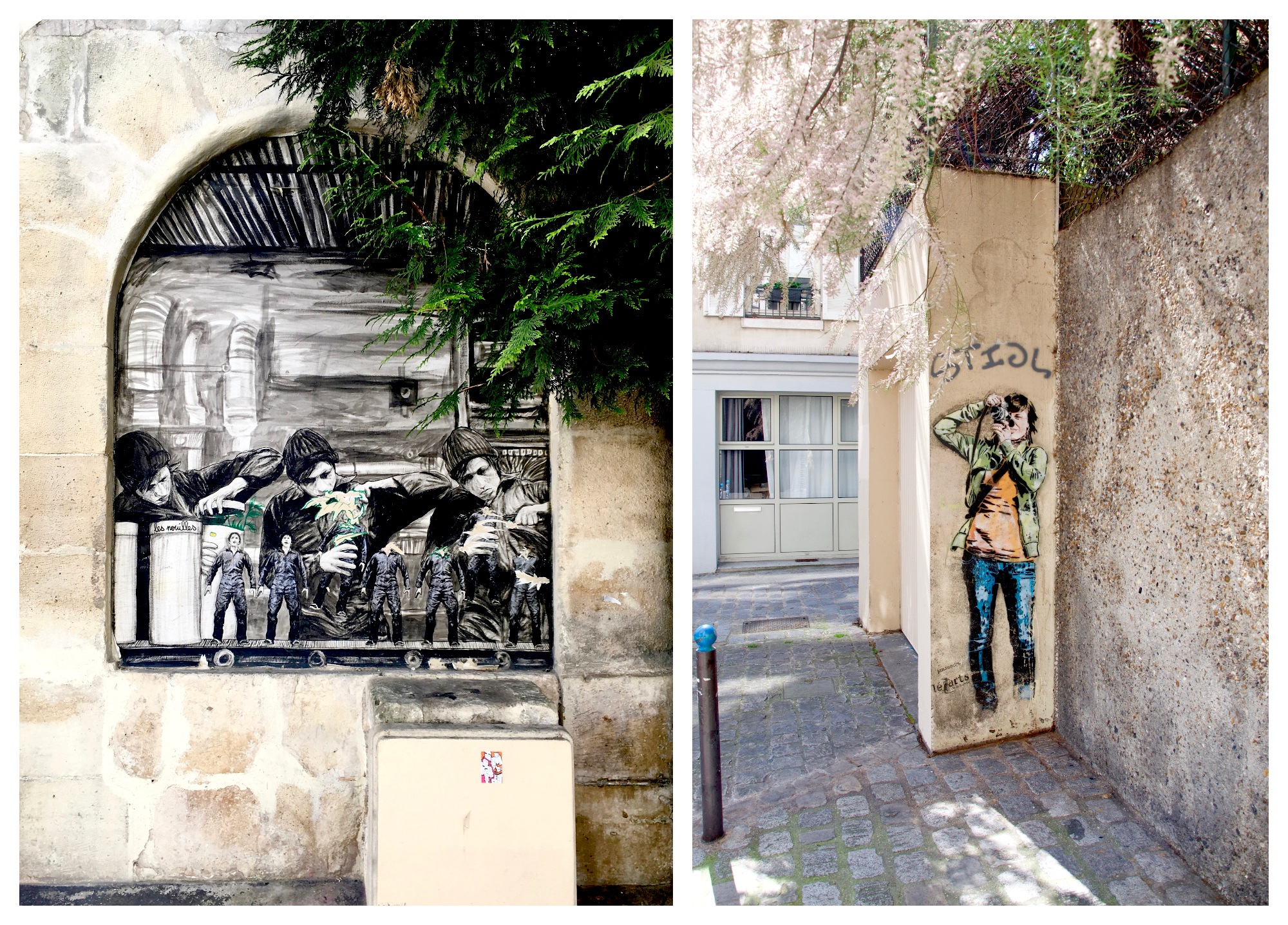 Street artist Ardif plays with Paris' streets for his works.