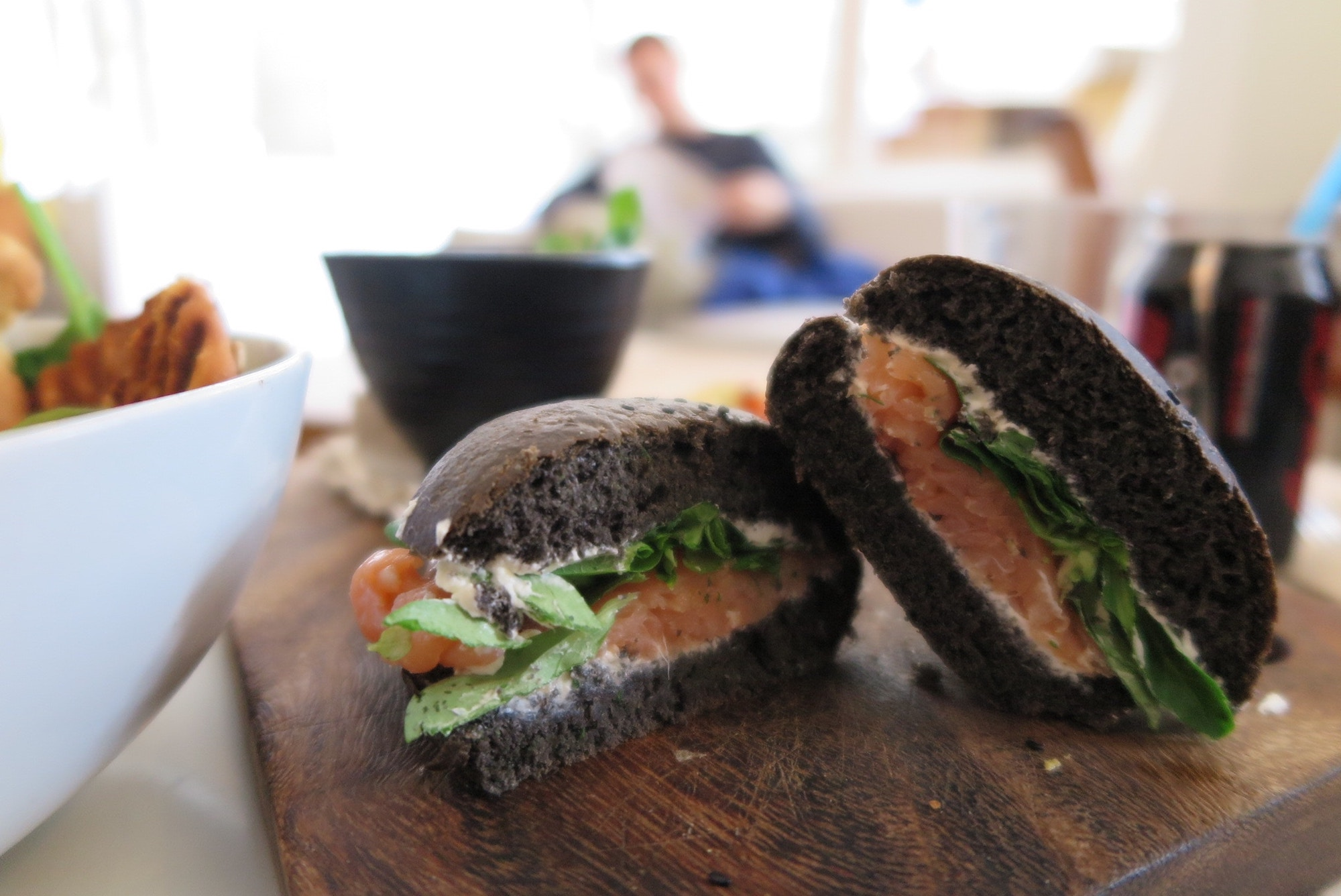 Black bread in Paris is a huge trend, and it's used for making sandwiches.
