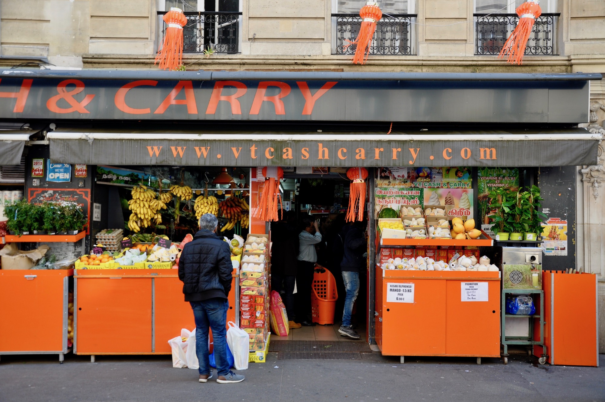 La Chapelle neighborhood in Paris has lots of Indian restaurants and Indian grocery stores selling exotic wares.
