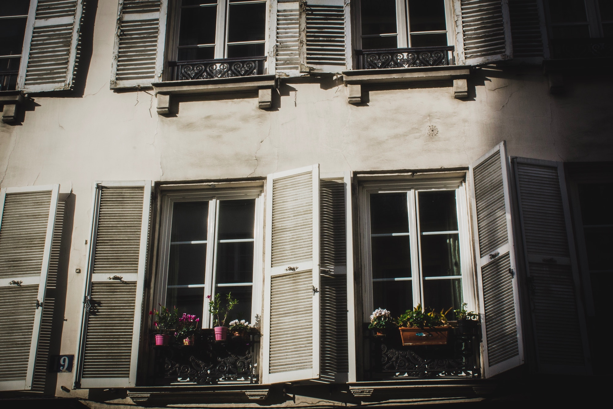 Paris podcast host Oliver Gee's tips on how to see Paris, and where to stay like an apartment rental with quaint windows lined with plants and white shutters.