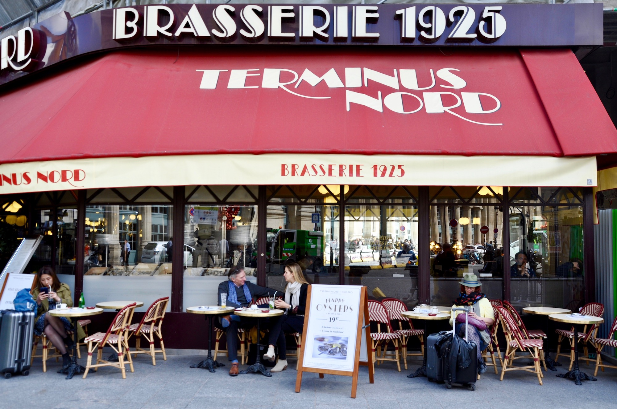 The Terminus Nord brasserie in Paris for classic French food across the road from Gare du Nord has an art deco feel.