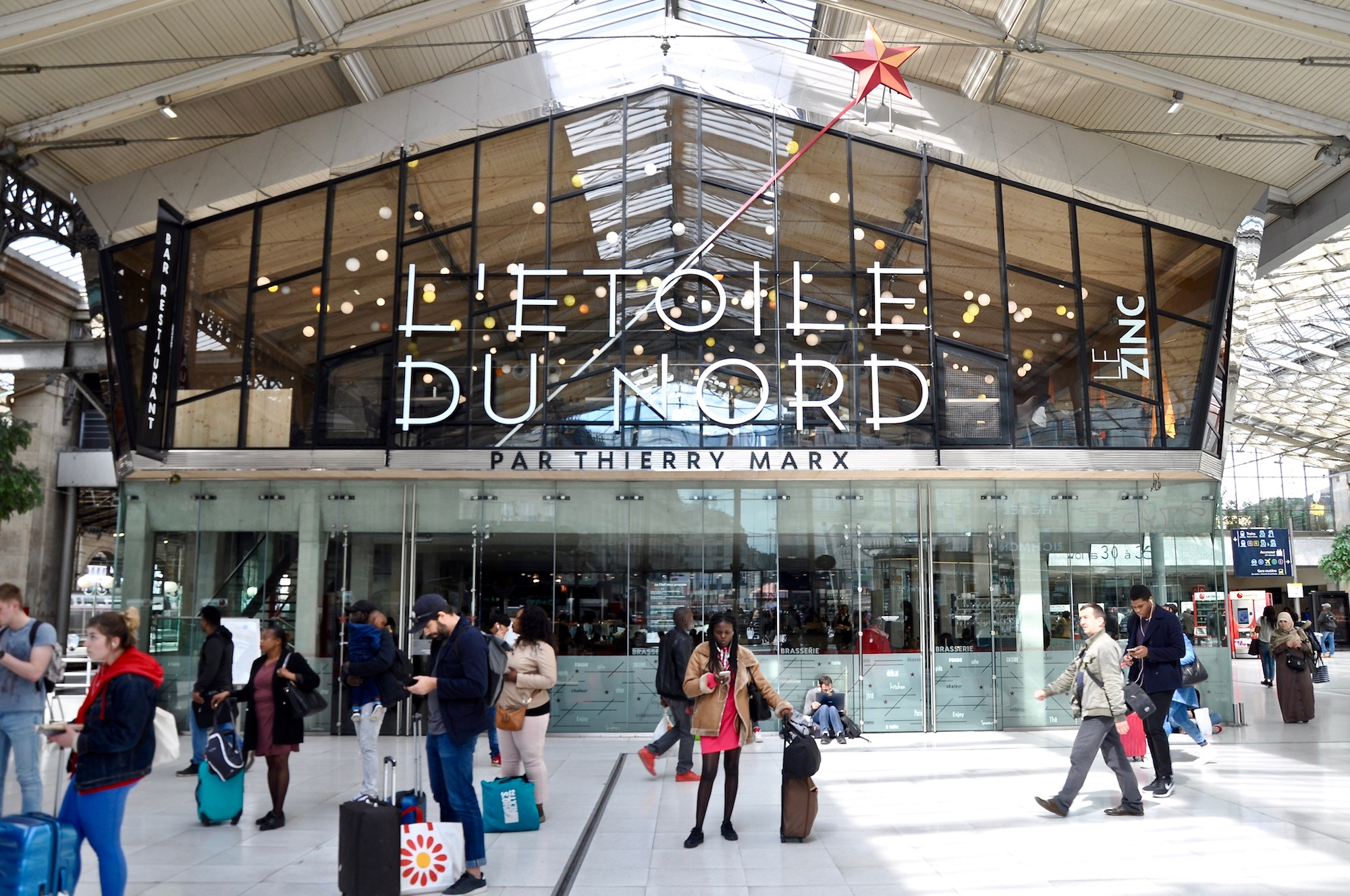Paris' Gare du Nord station has a new restaurant, L'Etoile du Nord by three-starred chef Thierry Marx.