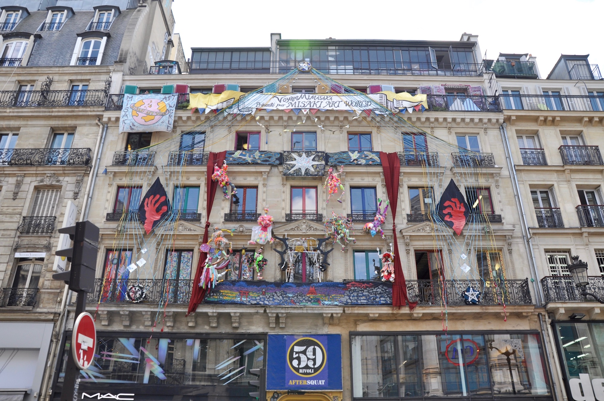 HiP Paris Blog discovers the many artist squats in Paris like the 59 Rivoli, which you can see adorned with art from the street.